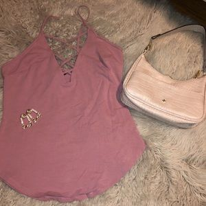 Pink strappo express top